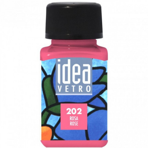 Colore Rosa per Vetro Idea Maimeri 60 ml