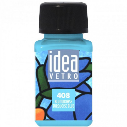 Colore Blu Turchese per Vetro Idea Maimeri 60 ml
