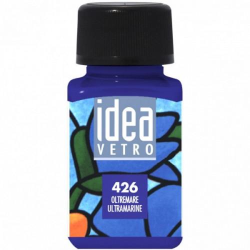 Colore Blu Oltremare per Vetro Idea Maimeri 60 ml