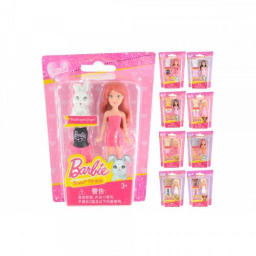 Barbie Mini doll con abito e cucciolo