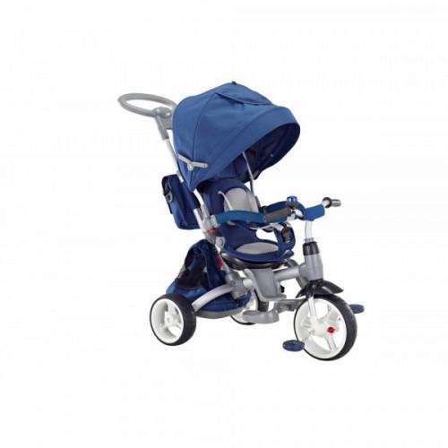 QPlay Blu Triciclo Passeggino con Seggiolino reversibile 6 in 1 Modi
