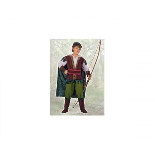 Costume arciere di sherwood 7-9anni