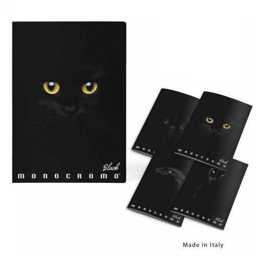Maxi A4 100gr Monocromo Black rigatura 5M 10 pezzi