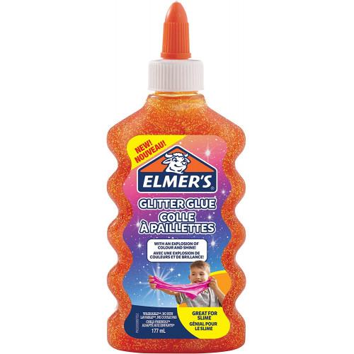 Elmer's colla liquida glit.arancio 177ml