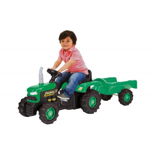 Trattore Farmer II con rimorchio verde