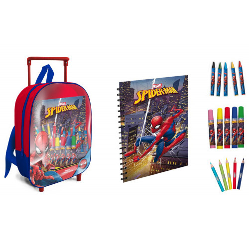 Spiderman mini trolley con accessori
