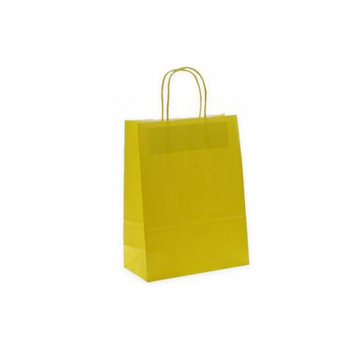 Sacchetto 14.5x21.5 giallo rit. cf.50