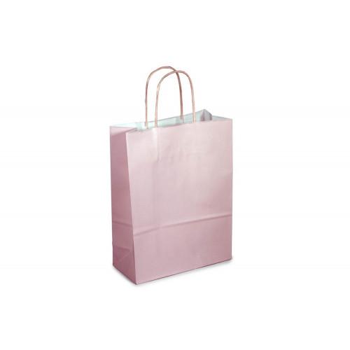 Sacchetto 14+8.5x21.5 rosa mr cf50
