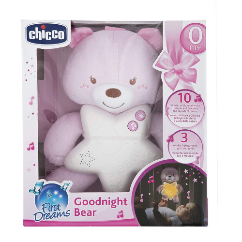 Carillon goodnight Orso rosa Chicco