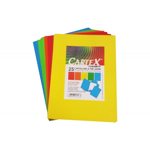 Cartelle cartex 3l giallo cf.25