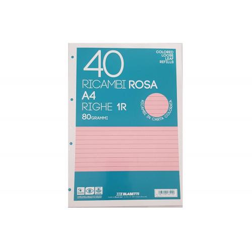 Ricambi A4 80 gr 40 fg 1R rosa