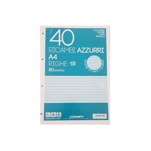 Ricambi A4 80 gr 40 fg 1R azzurro