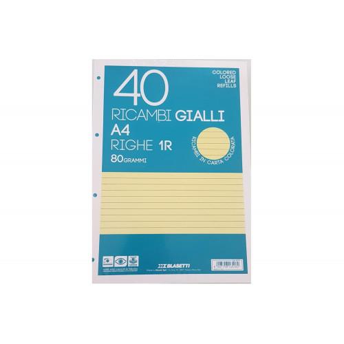 Ricambi A4 80 gr 40 fg 1R giallo