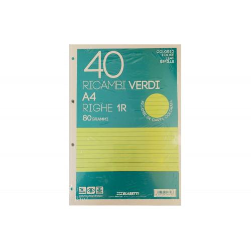 Ricambi A4 80 gr 40 fg 1R verde