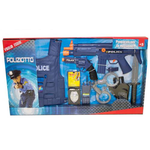 Set polizia con corpetto e accessori