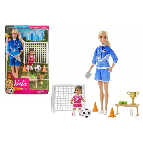 Barbie Allenatrice di Calcio con Shelly
