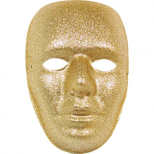 Maschera glitterata oro