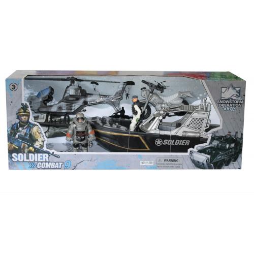 Soldier Combat playset con barca