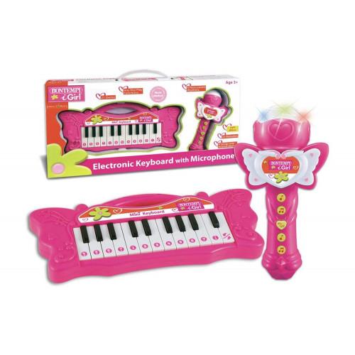 Mini Tastiera e set Karaoke 22 tasti