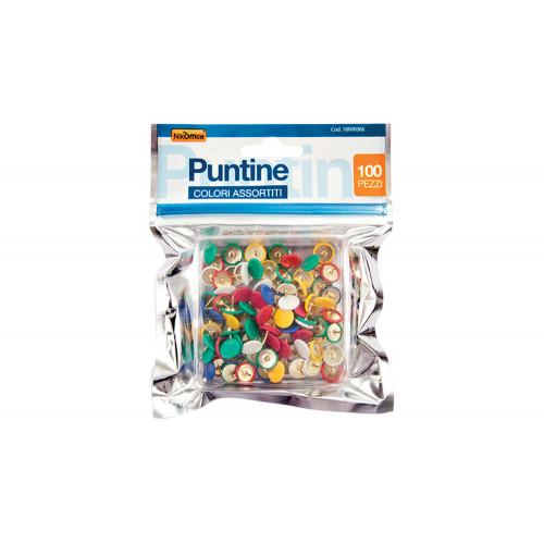 Puntine in Busta Ricoperte Colori Assortiti Confezione 100 Pezzi