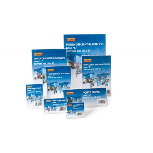 Porta depliant a4 da banco in materiale acrilico altamente trasparente