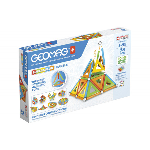 Geomag Supercolor Panels 78pz recycled