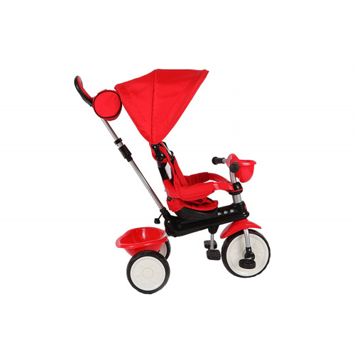 Triciclo Qplay Comfort 4 in 1 Rosso