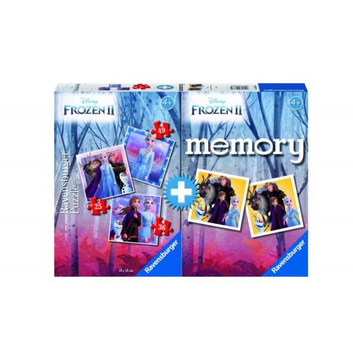 Memory Multipack Frozen 2 con 3 Puzzle