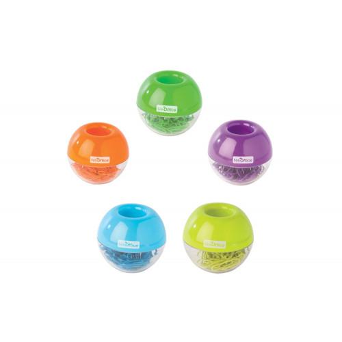 Portafermagli in colori fluo con 50 fermagli