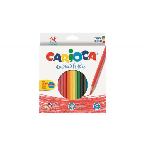 Pastelli Colored Pencils 24 pezzi Carioca