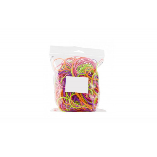 Elastici in gomma, assortiti nei colori e nelle misure, bustina da 50gr