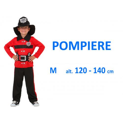 Pompiere rosso costume M