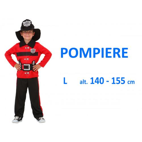 Pompiere rosso costume L