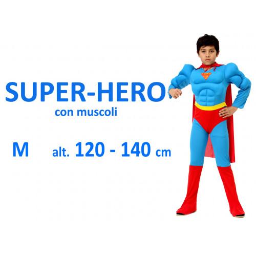 Super hero con muscoli costume M