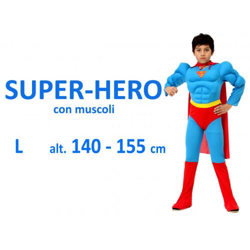 Super Hero con muscoli costume L