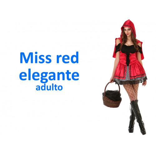 Miss red elegante costume adulto