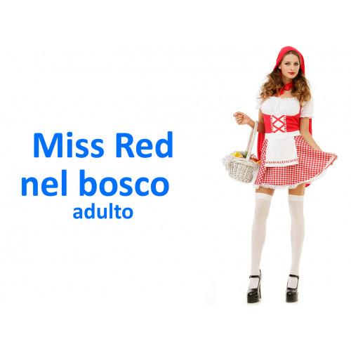 Miss red nel bosco costume adulto
