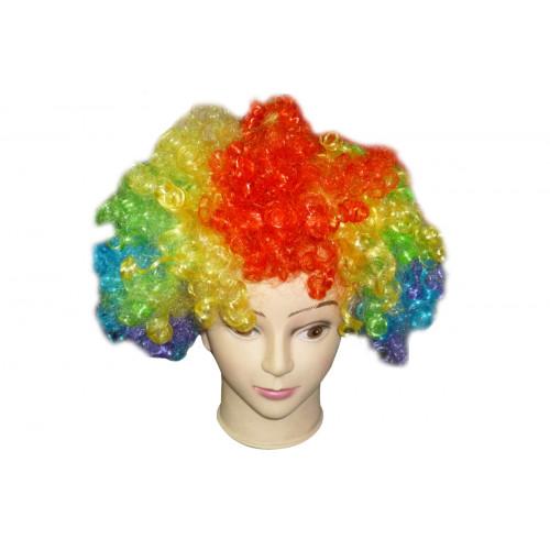 Parrucca riccia multicolor Topwell