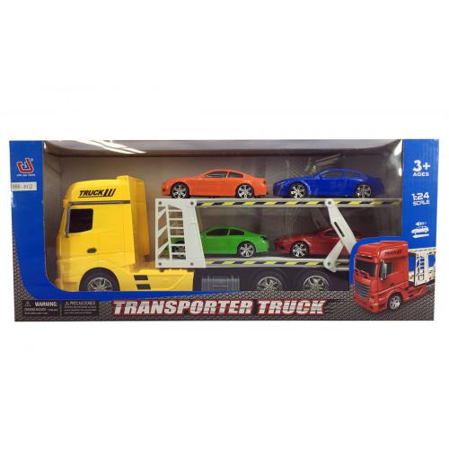 Camion bisarca con 4 auto Kidz Corner