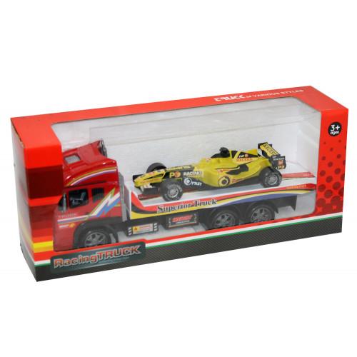 Bisarca con auto F1 40 cm Kidz Corner