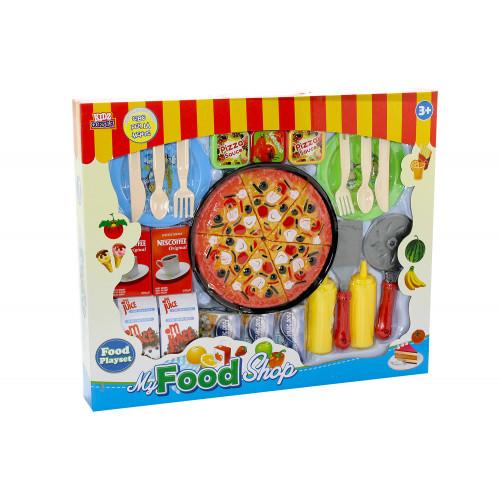 Pizza tagliabile con cibi e accessori