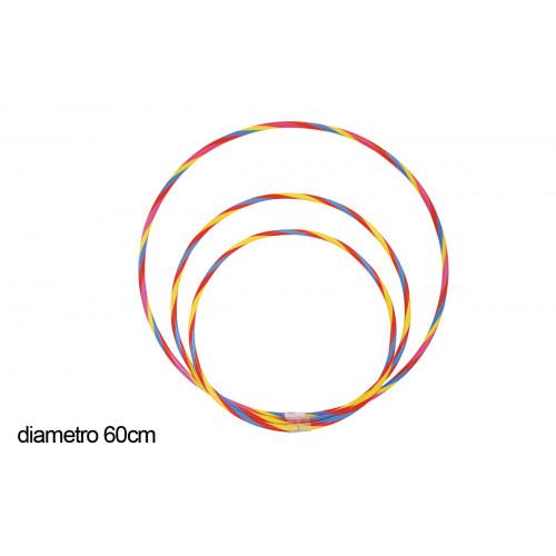 Hula hoop bicolore diametro 60 cm