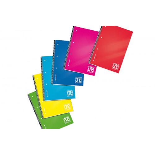 Maxi Spiralato con Fori e Copertina PPL One Color 5M 6 pezzi