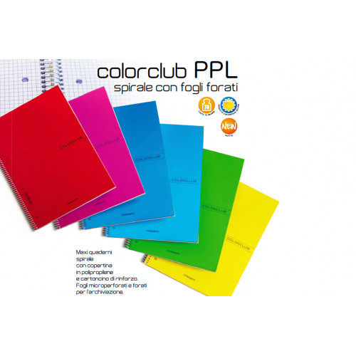 Maxi Spiralato con Fori e Copertina PPL 1 R Colorclub