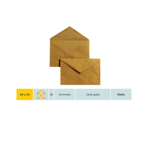 Busta blasetti 18x24 giallo posta cf.25