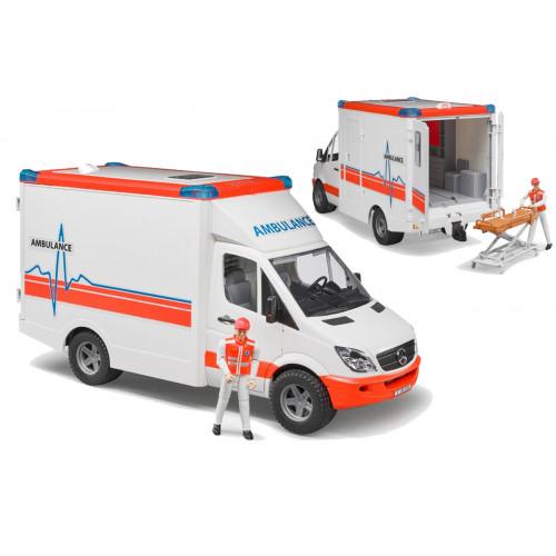 Ambulanza mb Spinter con autista Bruder