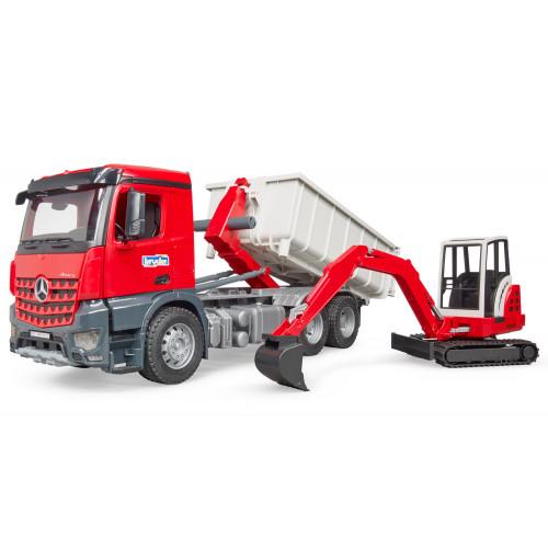 Camion MB Arocs con Escavatore Mini scala 1:16