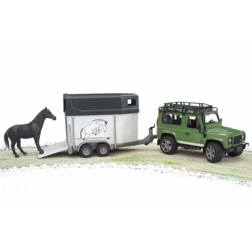 Land Rover Defender Stationwagon con Rimorchio Bruder