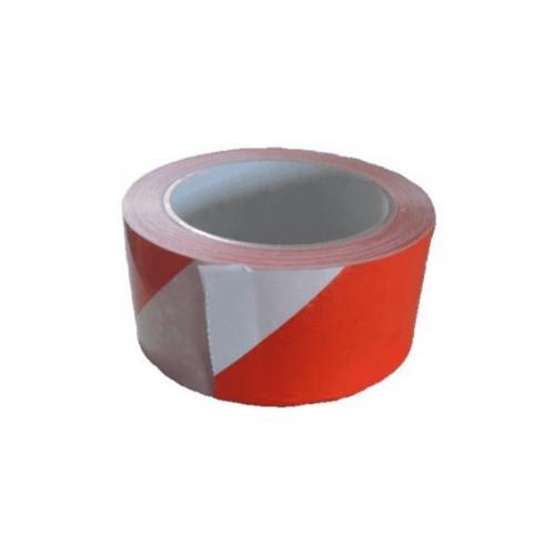 Nastro adesivo bianco/rosso 50x66