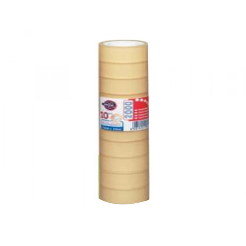 Nastro adesivo trasparente 15 mm x 33 m 10 pezzi